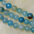 8mm Blue Dragon Veins Agate Round Gemstone Loose Beads 15''AAA