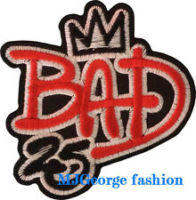 """Michael Jackson  """"BAD 25"""" patch, embroidery"""