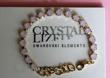 ACQUA DI ROSE Opal Bracciale Tennis Oro Placcato realizzati con elementi Swarovski Crystal