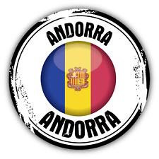 "Andorra Flag Grunge Stamp Car Bumper Sticker Decal 5"" x 5"""