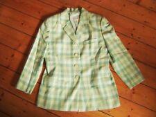 @ BOGNER @ Blazer grün Karo hochwertig Casual Gr. 40 Size L US 12 UK 14