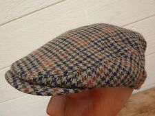 Men's BATES Hatter Flat Cap Hat / Wool Tweed / London / Size: 56, 6-7/8