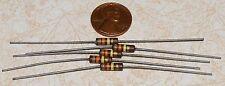 5 Carbon Comp Resistors 130K ohm 1/2W NOS 5%