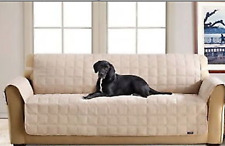 Sure Fit Sofa Waterproof Pet Cover /Throw with Strap in Tan *SALE*