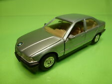 WELLY 9042 BMW 325i E36 4-DOORS - SILVER GREY 1:38? - GOOD CONDITION - PULLBACK