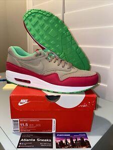 Men's Nike Air Max 1 Bamboo Fuschia Running Shoes Brown Size 11.5 537383 200