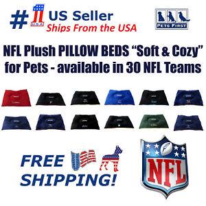 NFL Pillow Bed Mattress - Premium Quality Soft & Cozy Plush! 20+ Teams! for PETS
