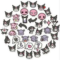 80pcs Cute Kuromi & My Melody Stickers For Laptop Guitar Luggage Skateboard Cup