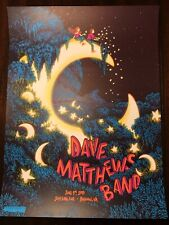 Dave Matthews Band 2018 Bristow Poster James Flames Glow In The Dark 256/970
