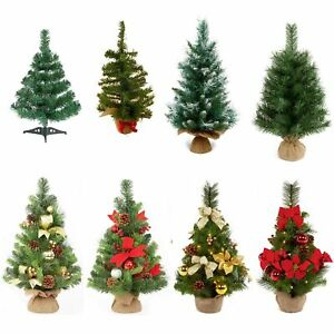 45-60cm Table Top Plain or Dressed Christmas Tree Indoor Use Home Office School