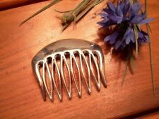 Medium Sterling Silver Modernist Hair Comb