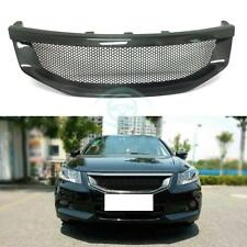 For Honda Accord 8th 2011-12 Fit Carbon Fiber Honeycomb Mesh Grille Trim No Mark