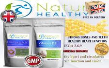 Vitamina D3 + Omega 3 6 9 ácidos grasos-Corazón función unos huesos sanos los dientes Pastillas