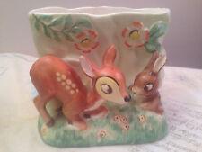 Vintage Fine China Haindpainted Disney Bambi & Thumper Vase by Giftcraft Napco