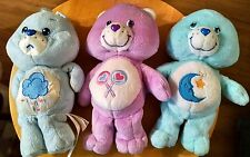 "Care Bears Lot of 3 Plush Stuffed 8"" Bedtime Grumpy & Share Bear 2002-2004 Toy"