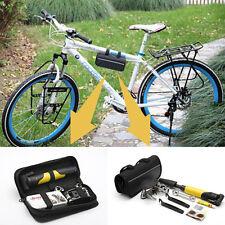 MTB Bicycle Bike Cycling Tool Kit Carry Case Bag Pump Tyre Puncture Repair Set