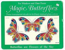 Vintage 1979 Illuminations MAGIC BUTTERFLIES window & glass door DECALS NOS