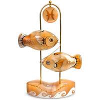 "6"" Pisces Zodiac Sign Fish Figurine, Selenite Sculpture, Horoscope, Handmade"