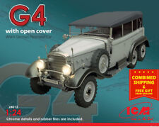 ICM 24012-1/24 German Personnel Car with open cover typ G4 WWII scale model kit