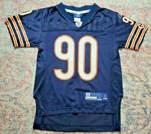 REEBOK YOUTH CHICAGO BEARS JULIUS PEPPERS # 90 NAVY BLUE JERSEY-Size Youth S (8)