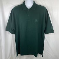 Starter Athletic Mens Large Forest Green Short Sleeve Golf/Casual Polo Shirt