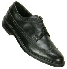 Mason Mens Executive Imperials Long Wingtip Oxfords 10.5C Black Leather Shoe USA