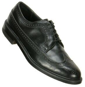 Mason Mens Executive Imperials Long Wingtip Oxfords 10.5C Black Leather Shoe USA