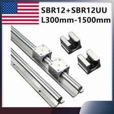 Linear Rail Sbr12 300 1500mm 2pcs Linear Guide 4pcs Sbr12uu Slide Block Bearing
