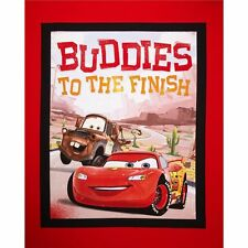 Disney Cars Buddies to the Finish Cotton Quilting Fabric Panel