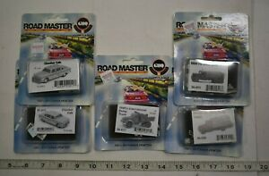 Lot 9-326 * N Scale GHQ Pewter Kits - 5 x Assorted Taxis & Trucks