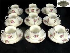 9 Louis Damon francés PARIS Porcelana Taza de café y platillo conjuntos Estilo Sevres