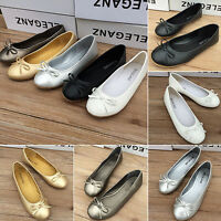 Womens Slip On Flats Dolly Shoes Leather Ballet Ballerina Moccasin Pumps Loafers