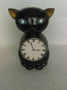 ❤️ Vintage Lefton Japan Black Kitty Cat  Wall Pocket Vase