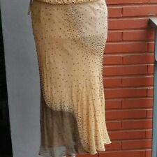Falda de seda Purificación García, beige, talla 40