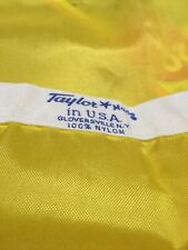 Vintage Yellow Flag made by Taylor Made perfect extra nice MADE IN USA