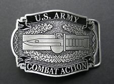COMBAT ACTION BADGE AWARD PEWTER BELT BUCKLE 3.2 INCHES US ARMY