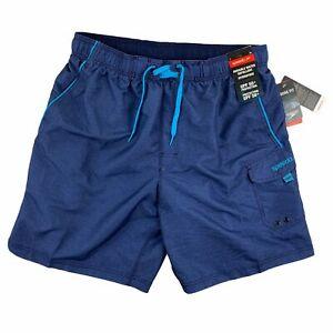 "Speedo Mens Loose Fit Marina Volley 20"" Swim Trunks Blue XL"