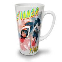 Summer Time Palm NEW White Tea Coffee Latte Mug 12 17 oz | Wellcoda