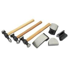 7 Pce Vehicle Body Dent Repair Tool Set Autobody Panel Dolly Bumping Hammer case