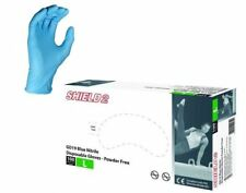 Box 100 200 500 1000 Shield GD19 Blue Nitrile Powder Free Disposable Gloves