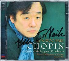 Kun-Woo PAIK Signiert CHOPIN Piano Concerto No.1 2 Krakowiak Antoni WIT 2CD 2003