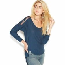 139615 Free People The Gatsby Long Sleeve Patchwork Blouse Tunic Top Large L