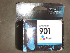 New Sealed HP 901 Tri-color Ink Cartridge CC656AN Warranty Expired 05/2016