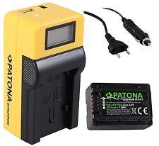 Patona Premium Akku + LCD Ladegerät für Panasonic HC-V777 / VW-VBT190