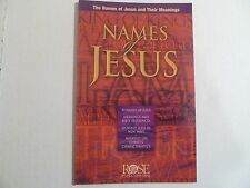 "ROSE ""NAMES OF JESUS"" 12 PAGE FOLD-OUT PAMPHLET-NEW!"