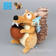 Ice Age 4 Continental Drift Funny Squirrel Scrat Plush Doll Soft Animal Doll 8''