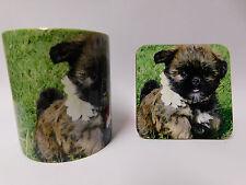 Griffon Bruxellois Chiot Tasse Et Coaster Set