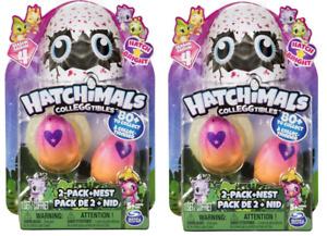 Hatchimals Set 2 CollEGGtibles 2Pack Season 4 Hatch Bright 2Pack +Nest Hatchimal