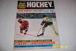 1963 Hockey Illustrated CHICAGO BLACKHAWKS Bobby HULL Second Half WONDERS
