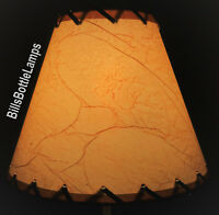 """Rustic Cottage LACED CRACKLE Table Light LAMP SHADE Clip-On Bulb Style 9"""" Cone"""